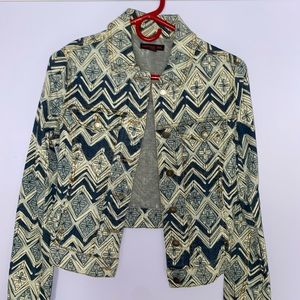 Patterned Jean Jacket